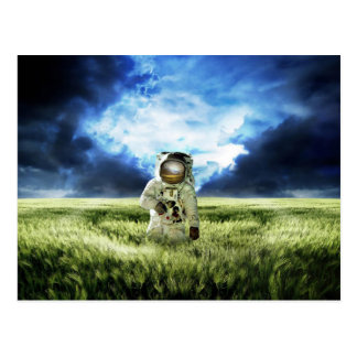 Astronaut In An Ominous Storm Postcard