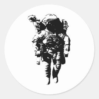 Astronaut in Space Classic Round Sticker