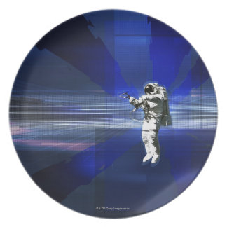 Astronaut in Space Party Plates