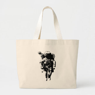 Astronaut in Space Canvas Bag