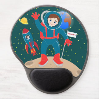 Astronaut kid birthday party gel mouse pad