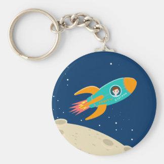 Astronaut kid birthday party key ring