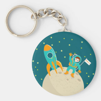 Astronaut kid birthday party key ring