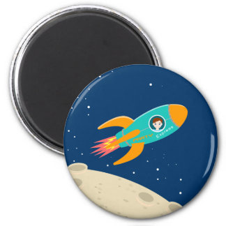 Astronaut kid birthday party magnet