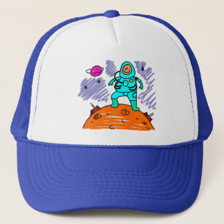Astronaut Kid Trucker Hat