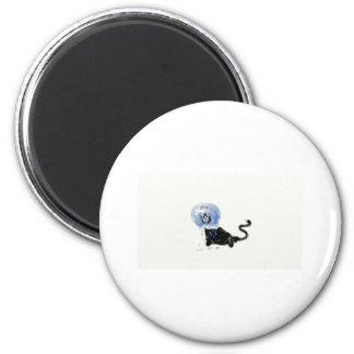 astronaut kitteh 6 cm round magnet