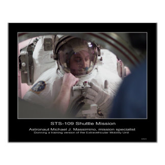 Astronaut Michael J. Massimino. STS-109 Poster