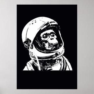 Astronaut Monkey Poster