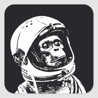 Astronaut Monkey Square Sticker