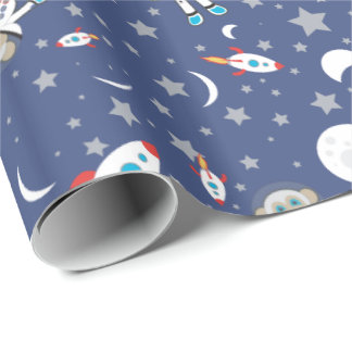 Astronaut Monkey Wrapping Paper