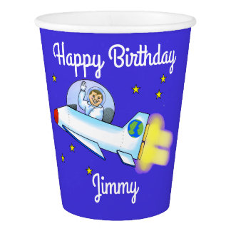 Astronaut Paper Cups
