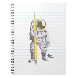 Astronaut Pencil and Paper Notebook