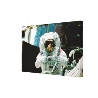 Astronaut Repairing Hubble Gallery Wrapped Canvas