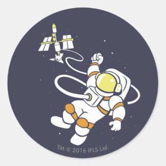 Astronaut Round Sticker