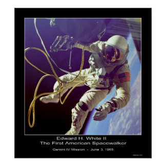 Astronaut Russell L. Schweickart Apollo 9 Mission Poster