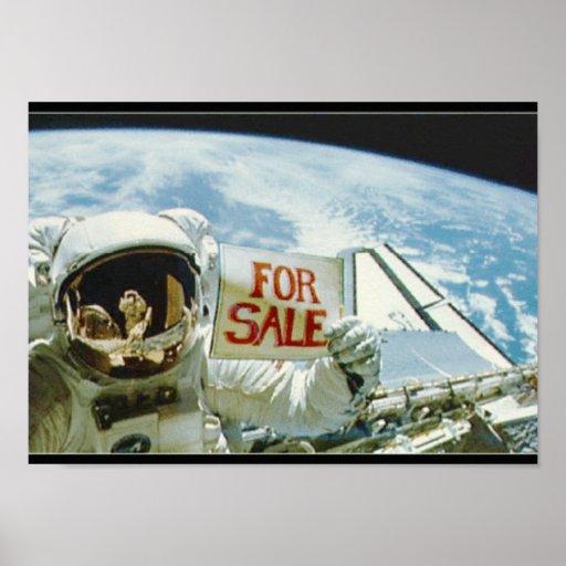 Astronaut Sells Earth Print