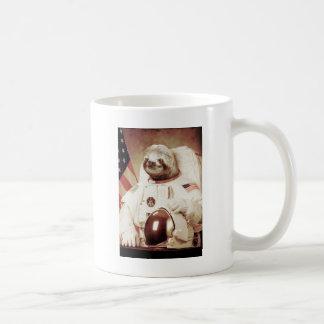 Astronaut Sloth Basic White Mug