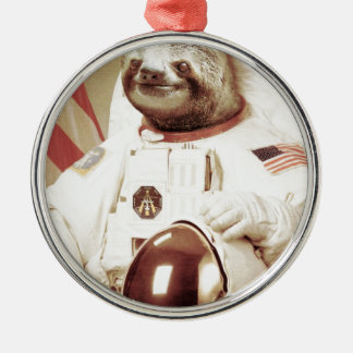 Astronaut Sloth Christmas Ornament