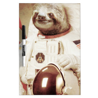 Astronaut Sloth Dry Erase Boards