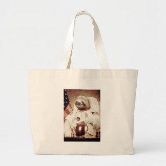 Astronaut Sloth Large Tote Bag