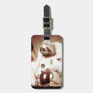 Astronaut Sloth Luggage Tag