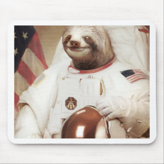 astronaut sloth mouse mat