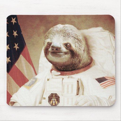 Astronaut Sloth Mousepad