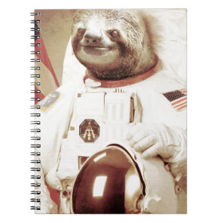 Astronaut Sloth Note Book