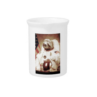 Astronaut Sloth Pitcher