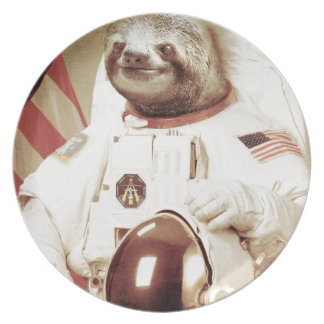 Astronaut Sloth Plate