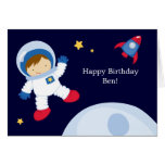 Astronaut Space Birthday Party Greeting Card