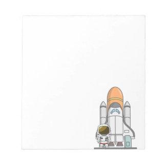 Astronaut & Spaceship Notepad