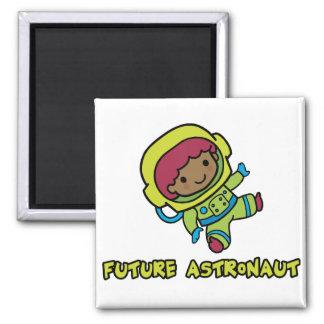 Astronaut Square Magnet
