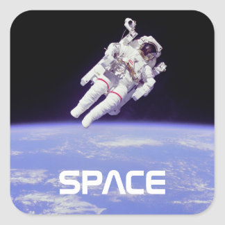 Astronaut Square Sticker