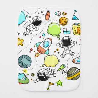 Astronaut Universe Burp Cloth