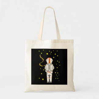 Astronaut Weeing In On The Moon Budget Tote Bag