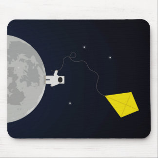 Astronaut with a Kite Mouse Pad