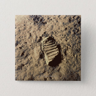 Astronaut's Footprint 15 Cm Square Badge