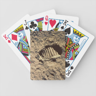 Astronaut's Footprint Bicycle Playing Cards