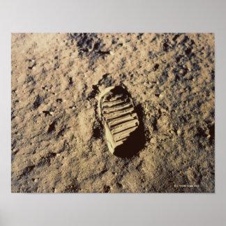 Astronaut's Footprint Poster