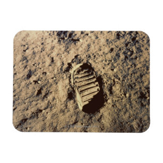 Astronaut's Footprint Rectangular Photo Magnet