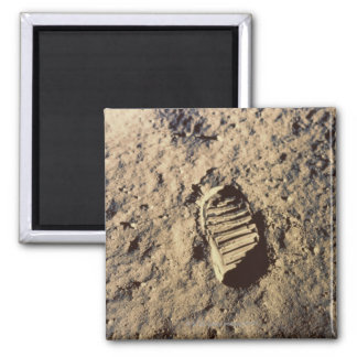 Astronaut's Footprint Square Magnet