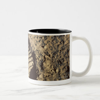 Astronaut's Footprint Two-Tone Coffee Mug