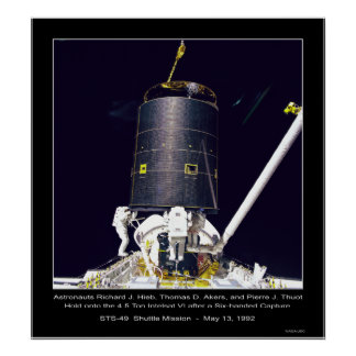 Astronauts Hieb, Akers and Thout Poster