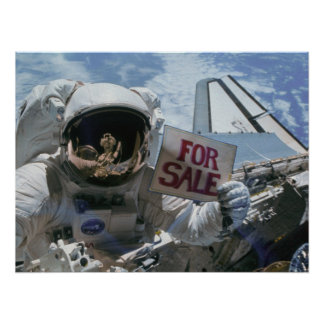 Astronauts post satellites for sale STS-51A Poster