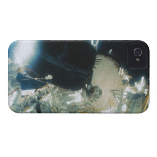 Astronauts Repairing a Satellite in Space iPhone 4 Covers