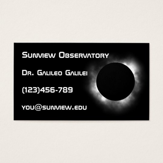 Astronomer business card template