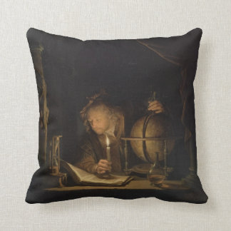 Astronomer by Candlelight Pillow