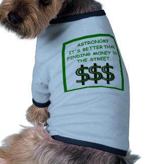 astronomer dog clothes