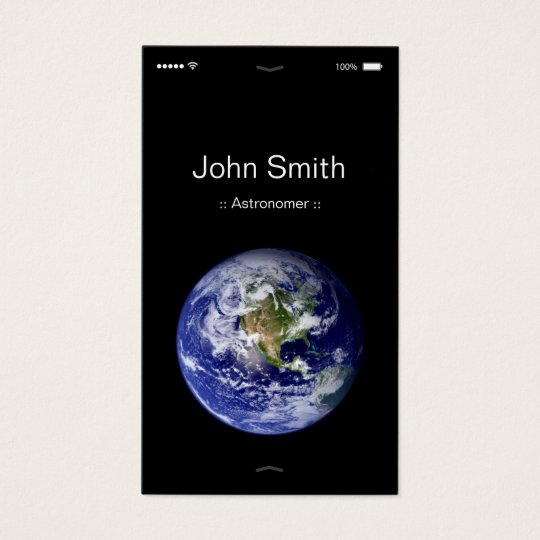 Astronomer - iPhone iOS Customisable Flat UI Style Business Card